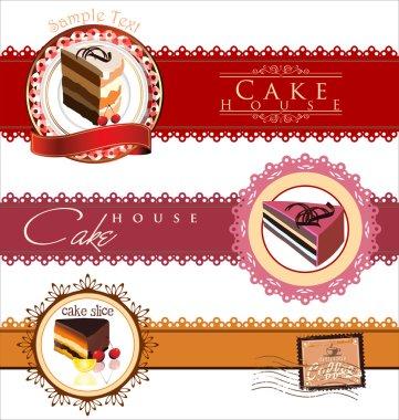 Coffee,tea and cakes menu template