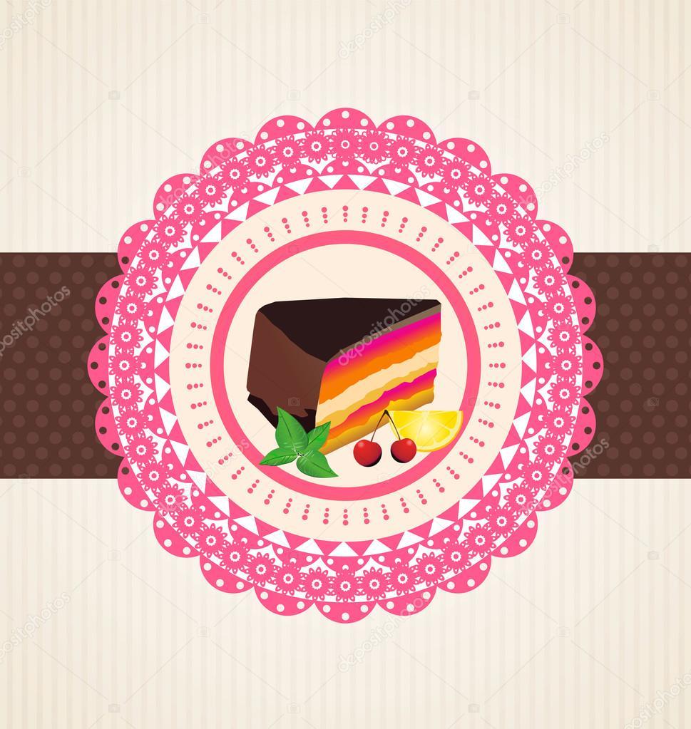 Cute Cupcake Design Template Stock Vector Totallyout 27099933