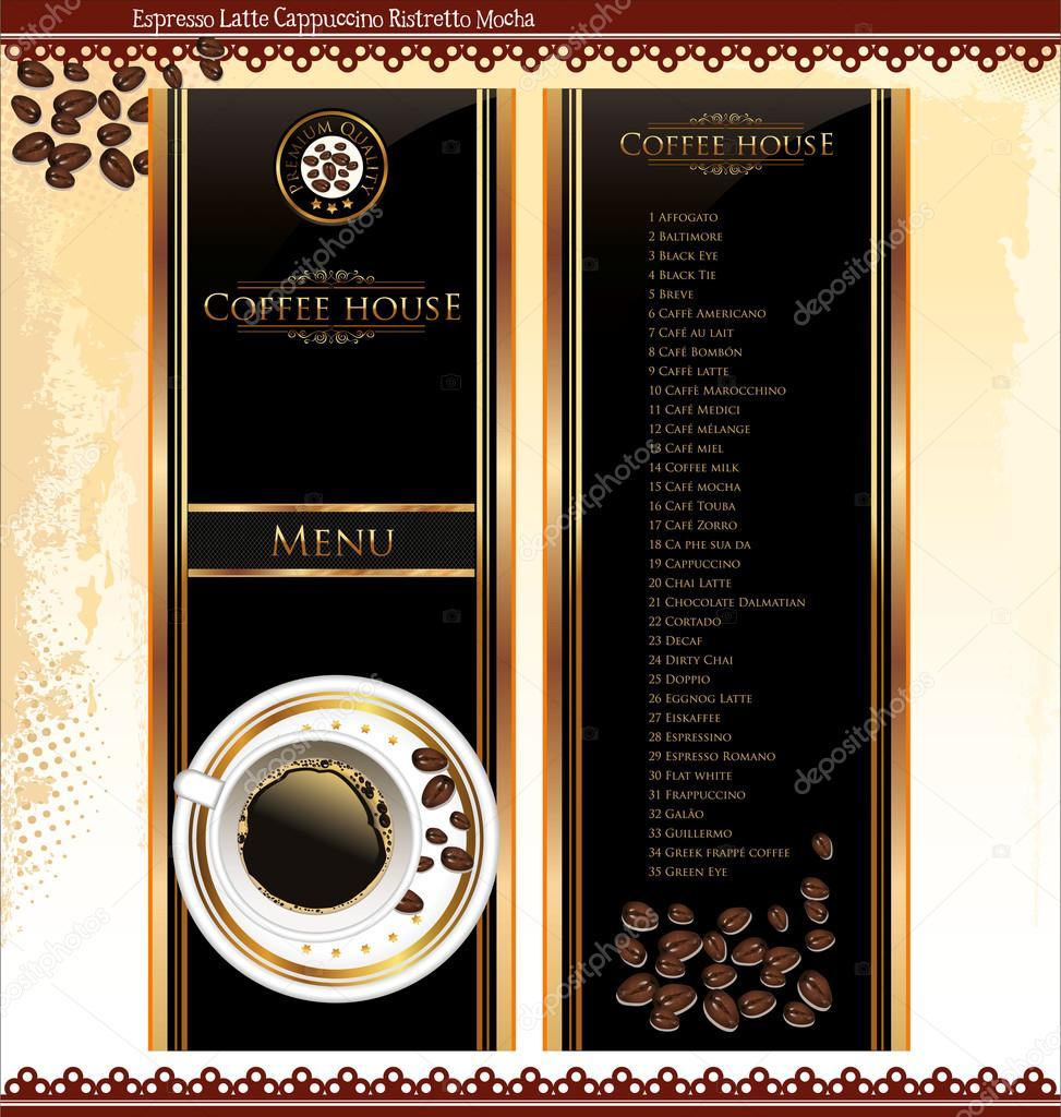 Coffee Shop Menu Template — Stock Vector © totallyout #27103725