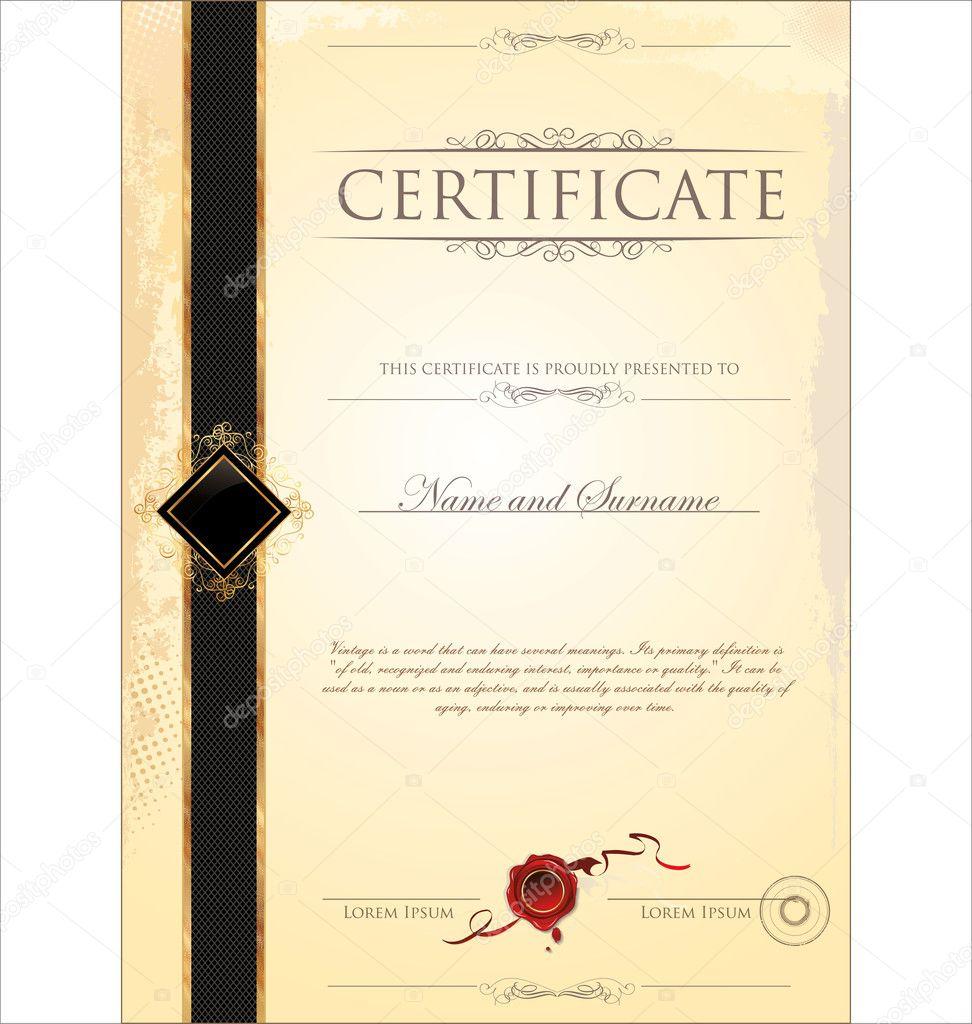 Zertifikatvorlage — Stockvektor © totallyout #27103735