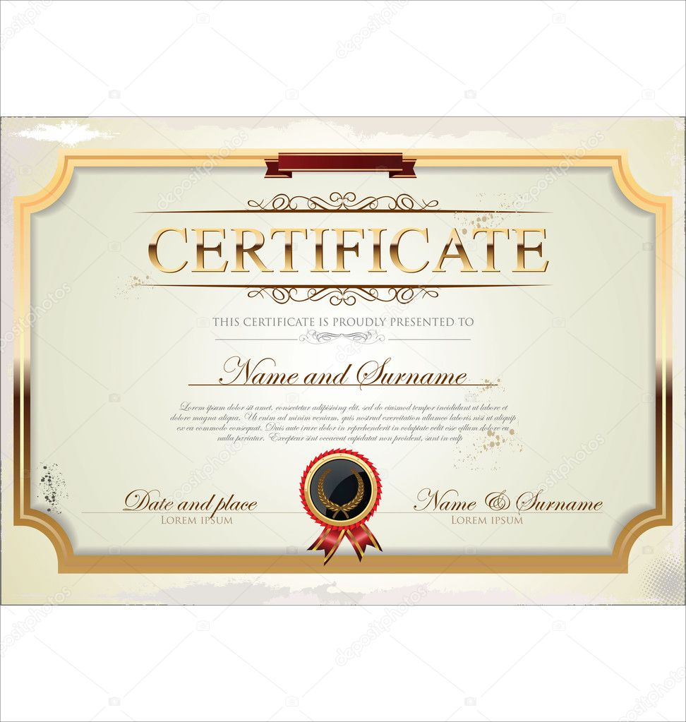 certificate template stock vector totallyout 27123303