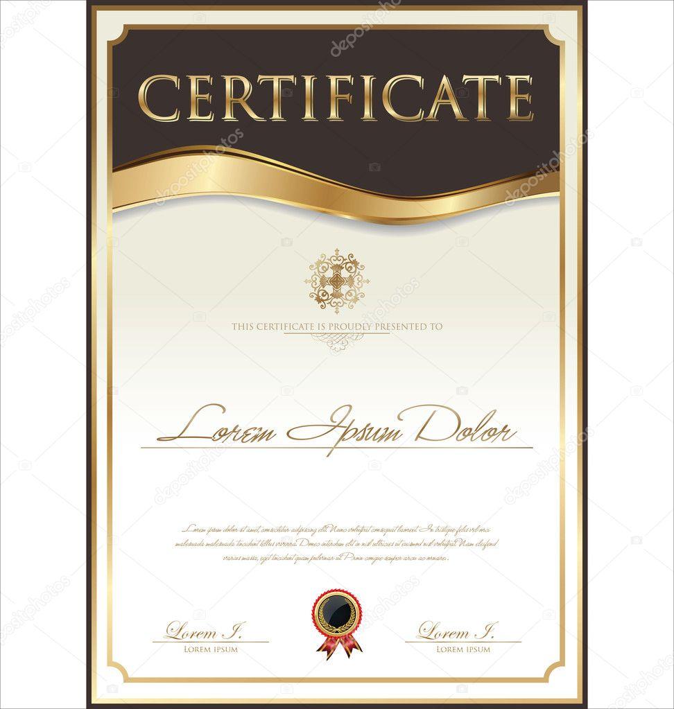Zertifikatvorlage — Stockvektor © totallyout #29104539