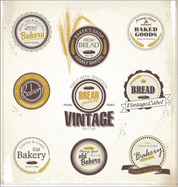 Vintage bakery labels stock vector