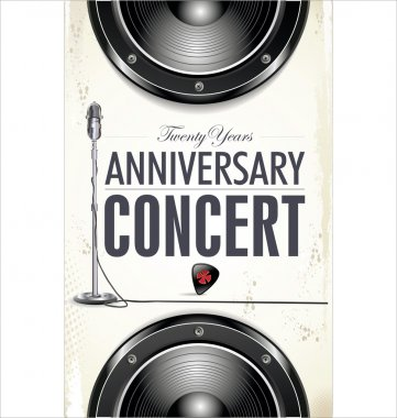 Anniversary concert poster