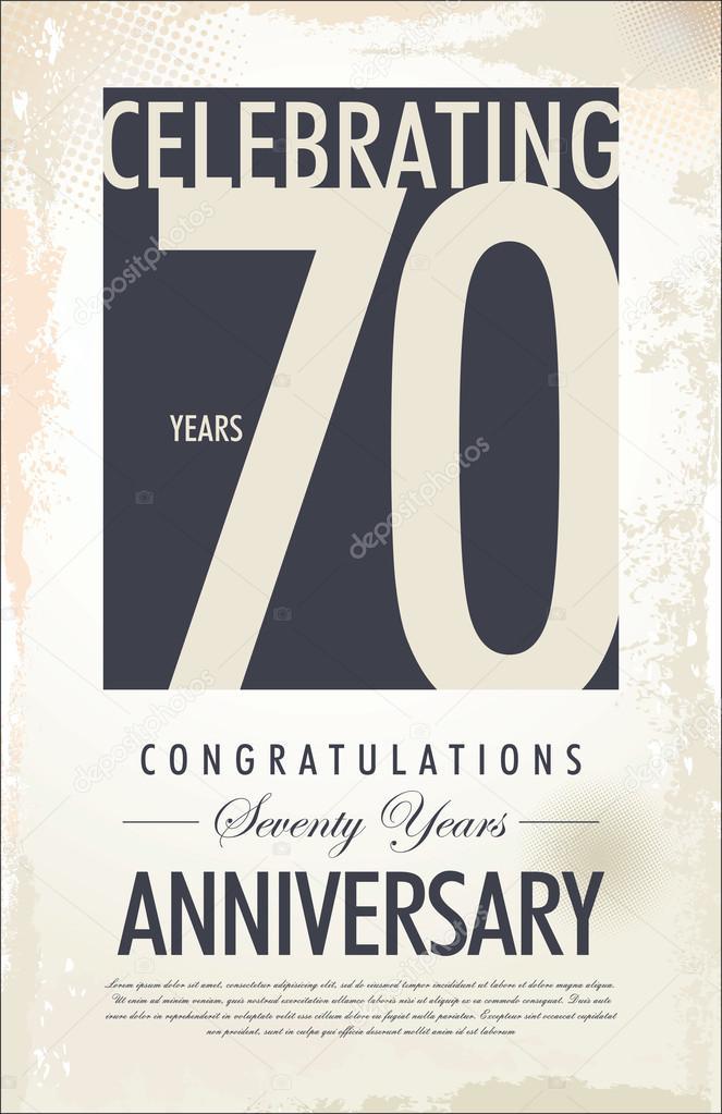 70 Jaar Verjaardag Achtergrond Stockvector C Totallyout 30813675