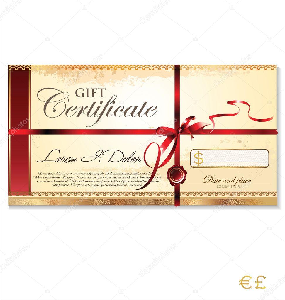 Шаблоны подарочный сертификат скачать