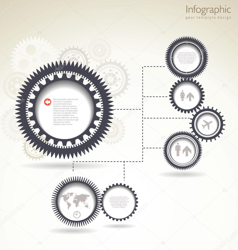 infographic gear template design stock vector totallyout 32134107