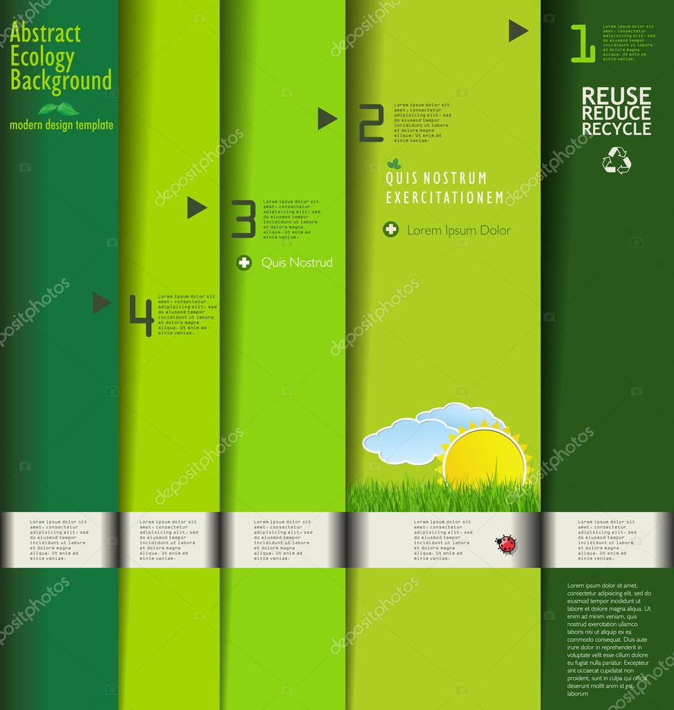 Modern green ecology design template