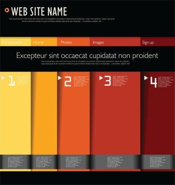 Modern web site design
