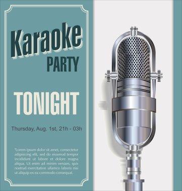 Karaoke retro night background