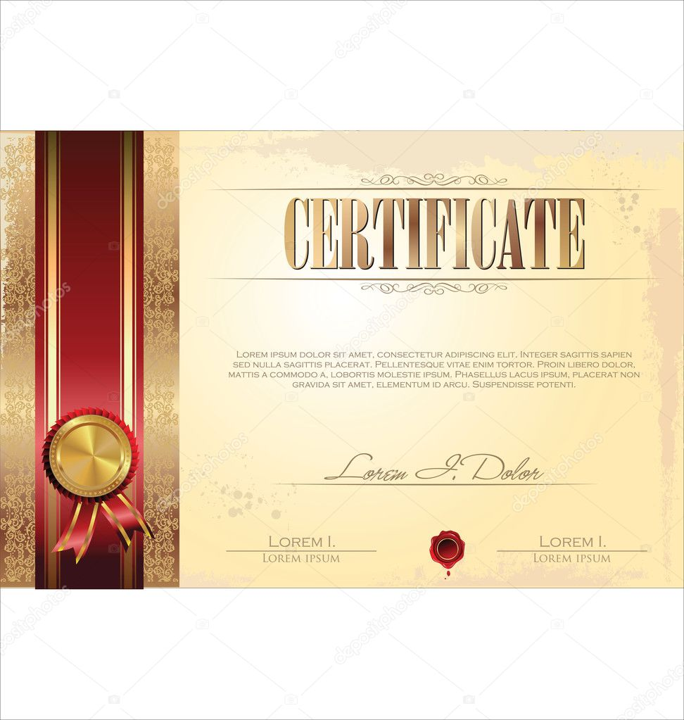 Certificate or diploma template vector illustration stock certificate or diploma template vector illustration stock vector 34317553 yadclub Image collections