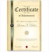Ilustrace zlatých detailní certifikátu