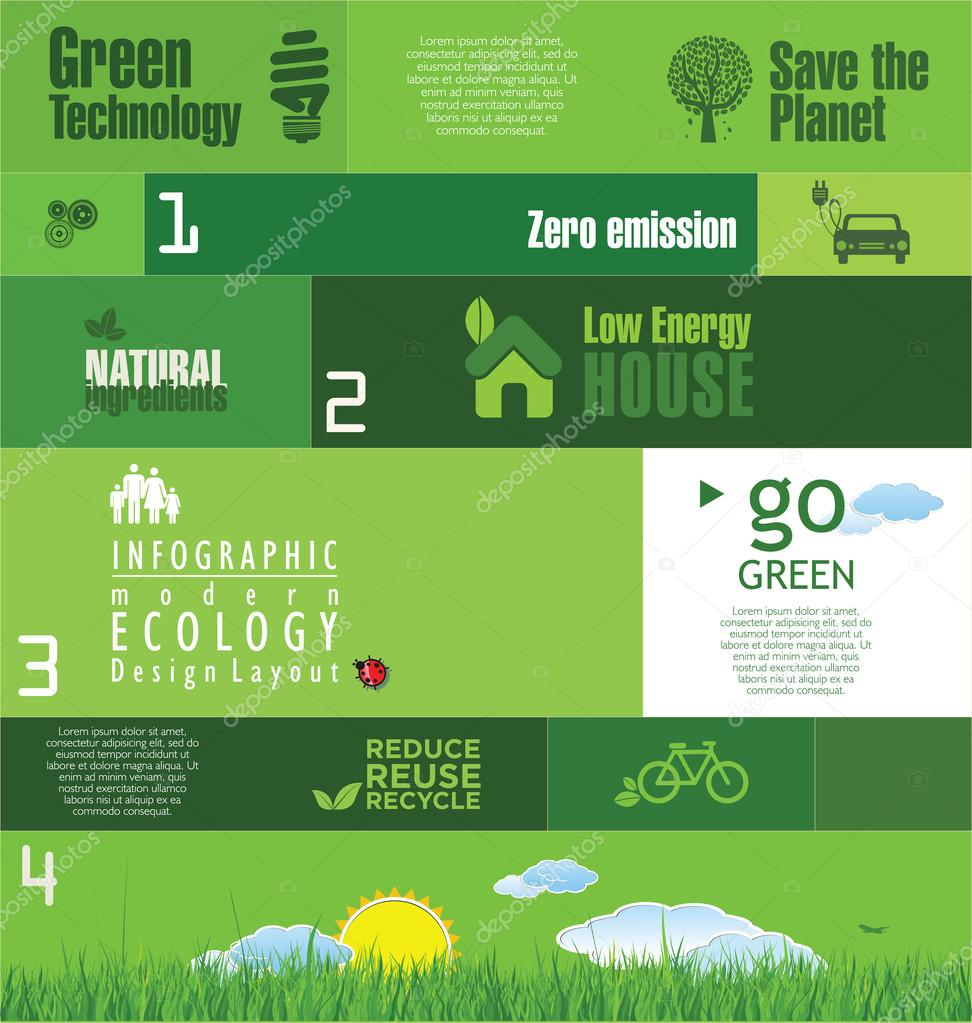 Modern green ecology background