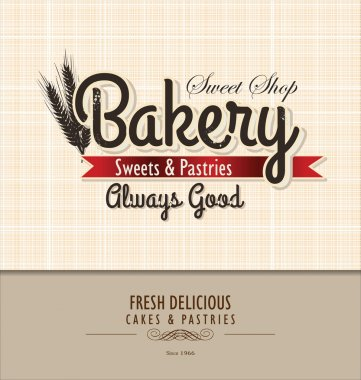Vintage Bakery Poster