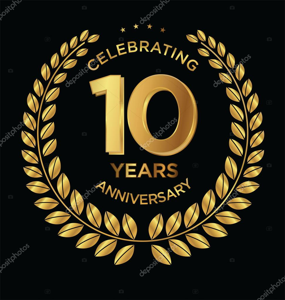 10th anniversary stock vectors royalty free 10th anniversary anniversary golden laurel wreath 10 years stock illustration biocorpaavc