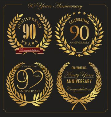 Anniversary golden laurel wreath, 90 years