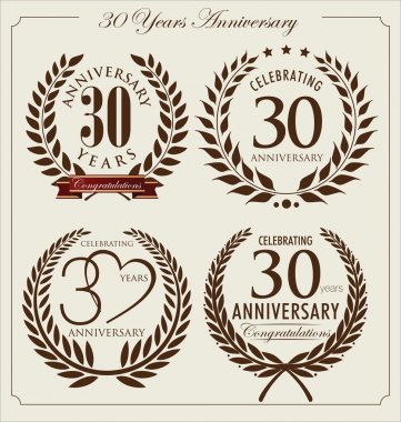 Anniversary laurel wreath, 30 years