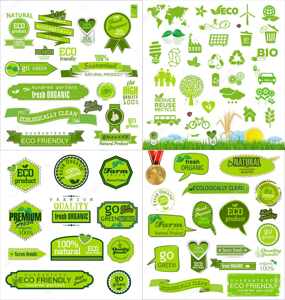 Mega collection ecology icons