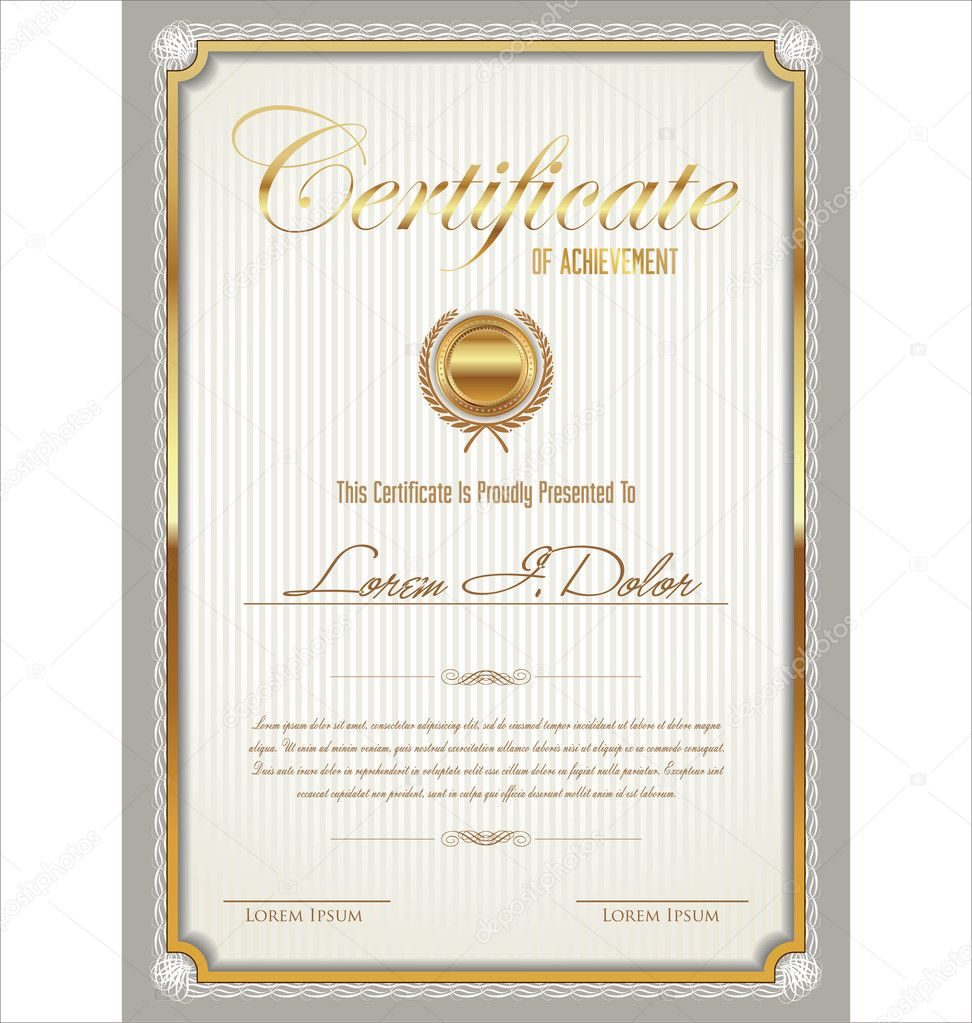 Zertifikatvorlage — Stockvektor © totallyout #47390391