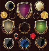 Fotografie Goldene Schilder, Etiketten und Lorbeeren, Sammlung