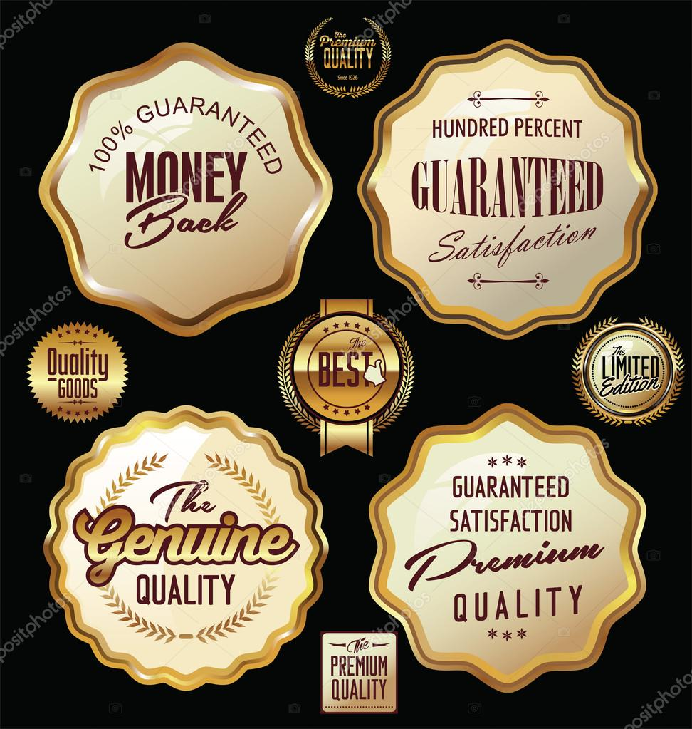 Set of premium quality labels, collection