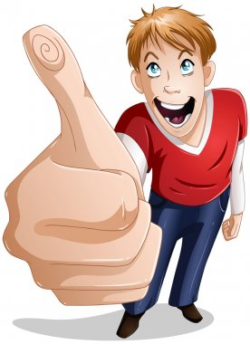Guy Smiles With Thumbs Up