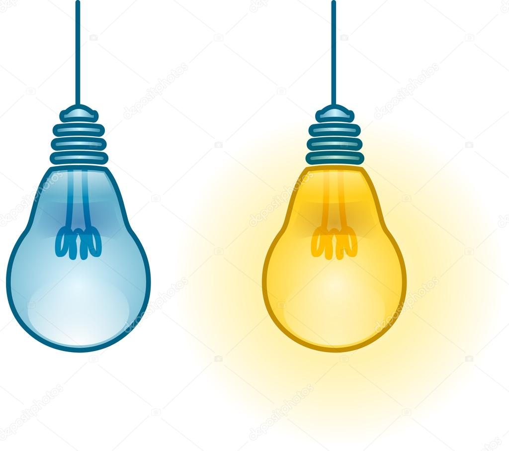 Lightbulb Turned On And Off Stock Vector Lironpeer 36924373