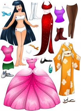 Asian Girl Princess Dress Up