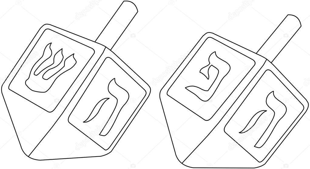 Imágenes: dibujo de dreidel | Página para colorear de Januka dreidel ...