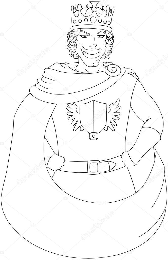 Imágenes: corona de rey para colorear | joven rey con corona de ...