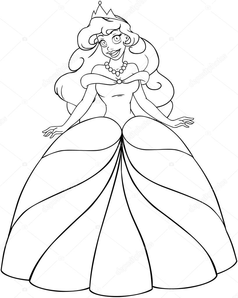 Afrikalı Prenses Boyama Sayfası Stok Vektör Lironpeer 42032551