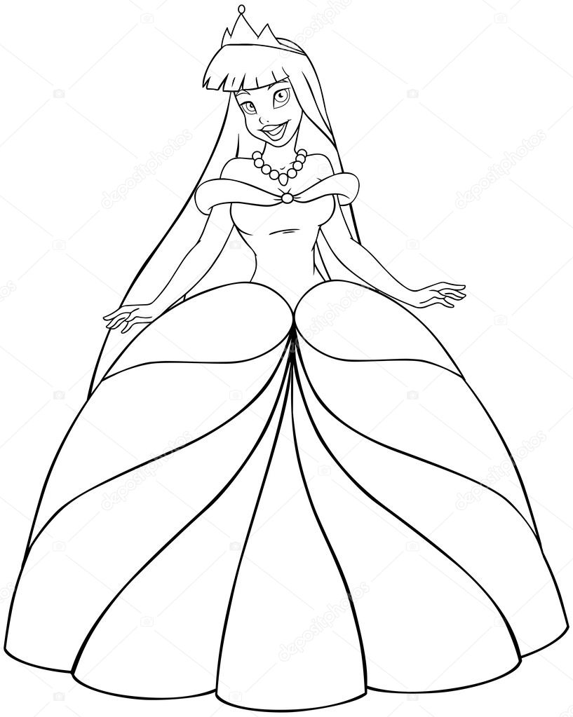 japanese princess coloring pages - photo#9