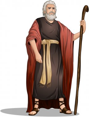 Vector illustration of Moses standing for Passover. clip art vector