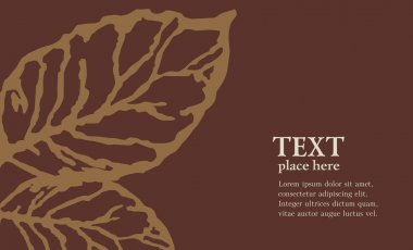 Tobacco leaf. Vector abstract background
