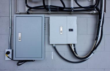 electric system in cabinet  building system