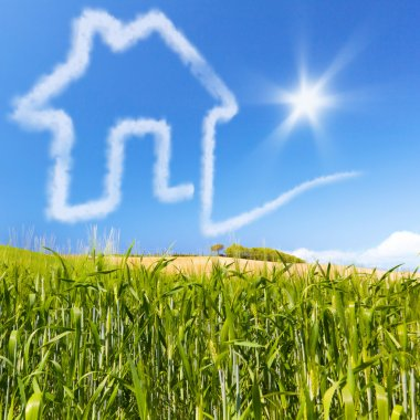 Concept for ecology real estate for sale or buy