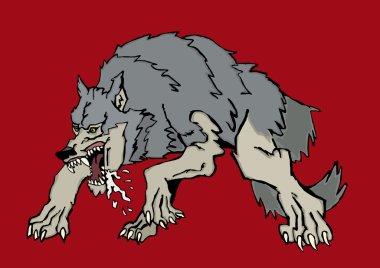 Ferocious big wolf