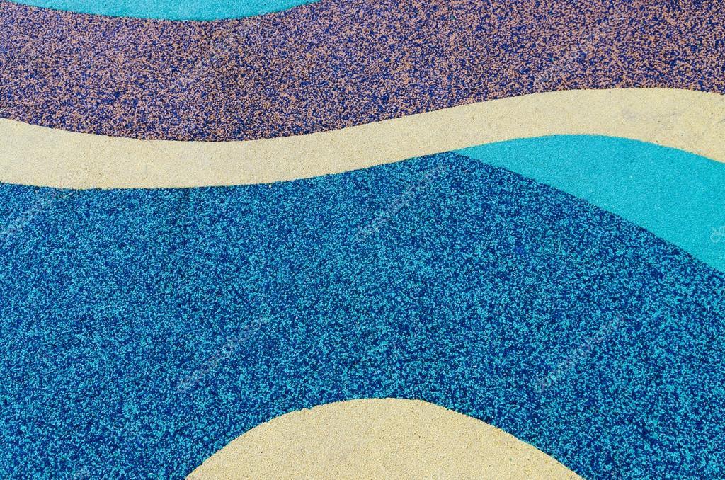 Textura De Piso De Goma De Color En El Patio Etileno