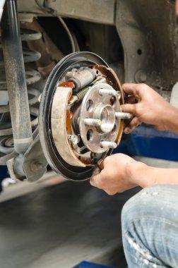 Change new brake pads