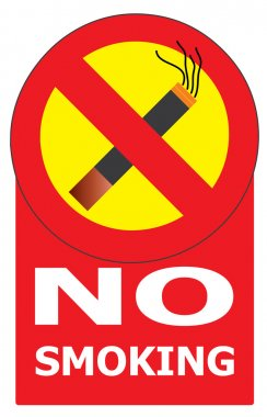 No Smoking Cigarette Area Sign