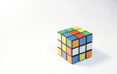 Cube rubik  on a white background