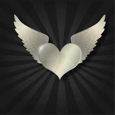 Valentine metal heart