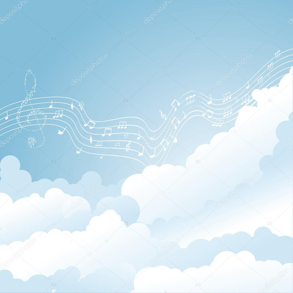 musical notes in sky