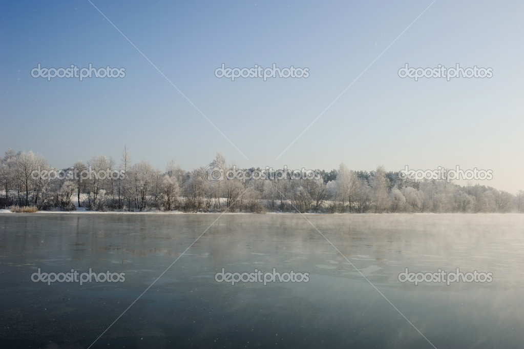 The freezing river