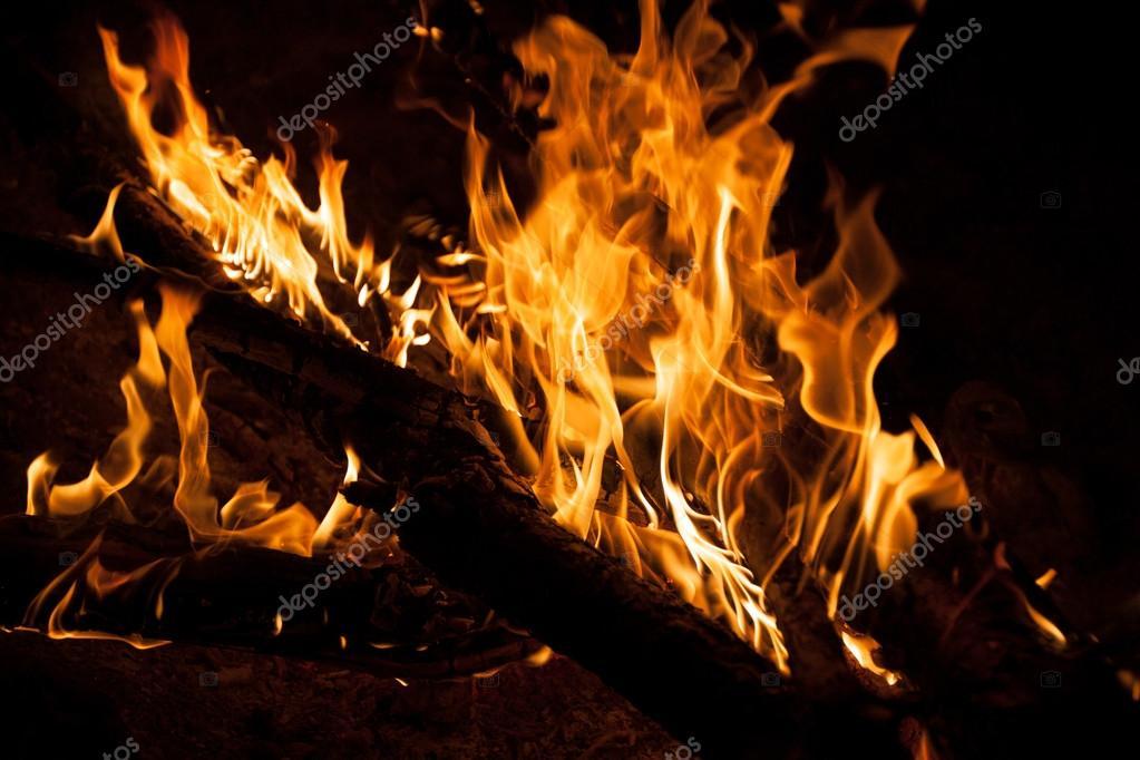 Burning bonfire night - fire