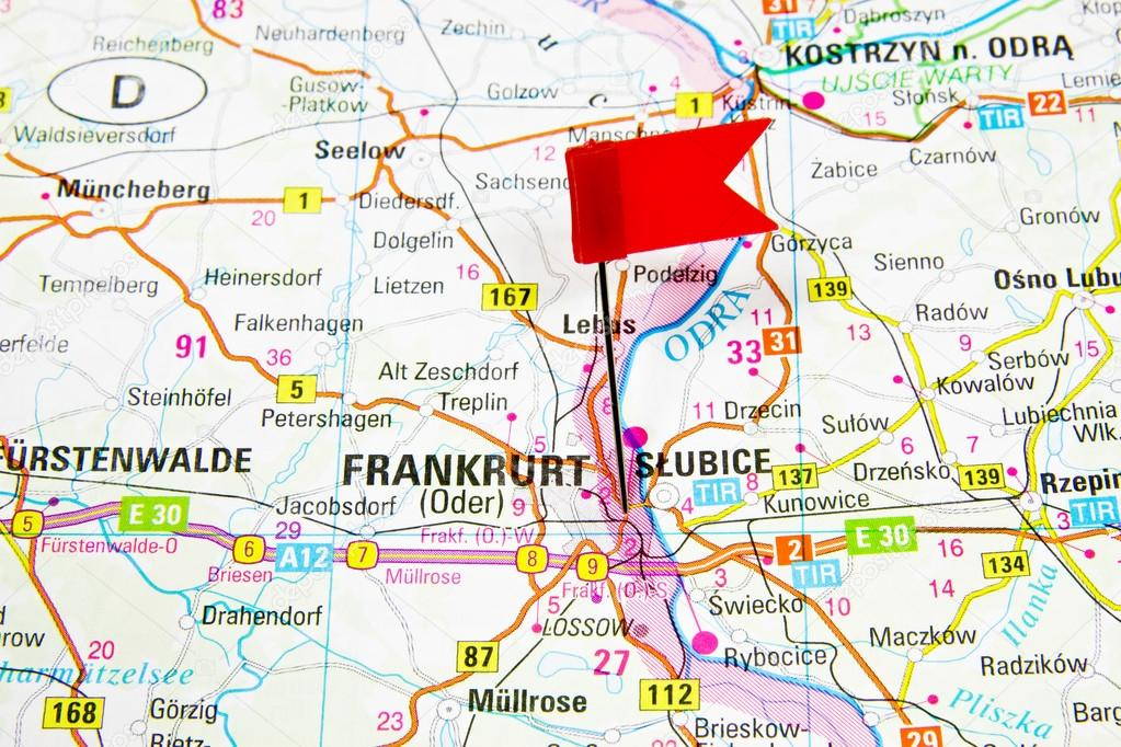 frankfurt mapa Map of the selected city Frankfurt, Germany   Slubice Poland  frankfurt mapa