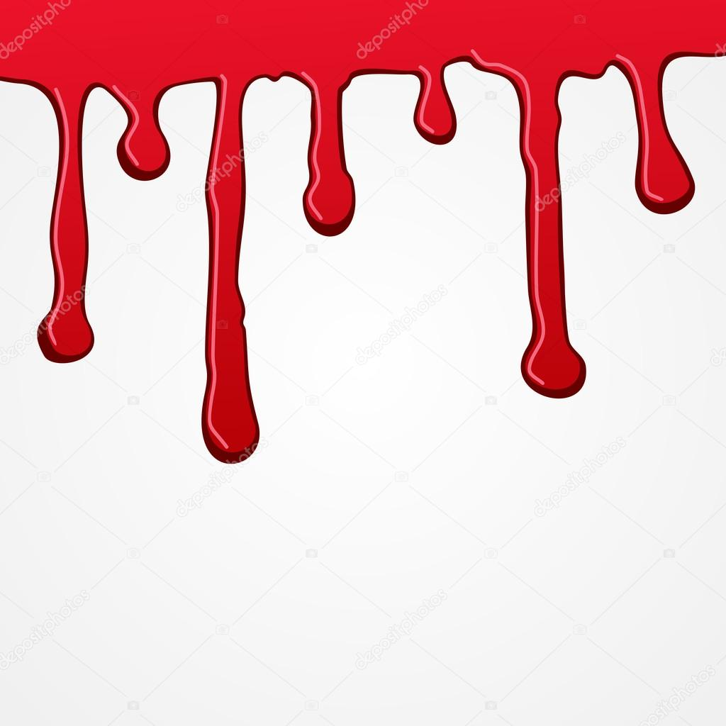 Red Paint Dripping Down