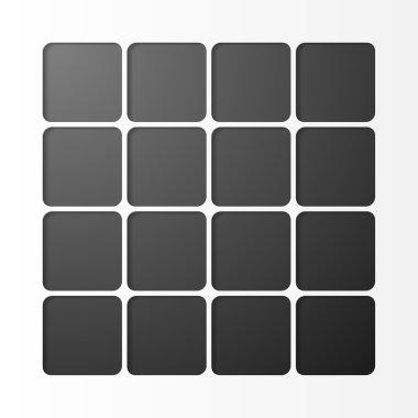 Black squares design