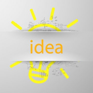 Idea sign silhouette