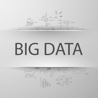 BIG DATA with formulas on the background